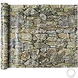 TecTake Rivestimento per Balcone Rivestimento schermante | Resistente alle intemperie - Disponibile in Diversi Colori e Diverse Misure (0,9 x 6 m | Pietra | No.402709)