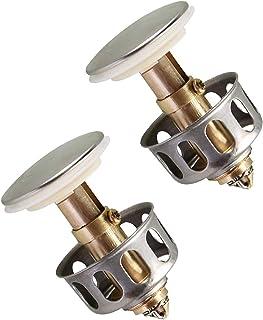 ステンレス鋼プッシュ型バウンスコア、ユニバーサル洗面台バウンスドレインフィルター (2 PCS)