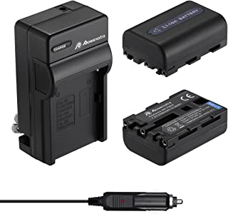 Powerextra 2 Pack Replacement Sony NP-FM50 Battery and Travel Charger Compatible with Sony NP-FM30 NP-FM51 NP-QM50 NP-QM51...