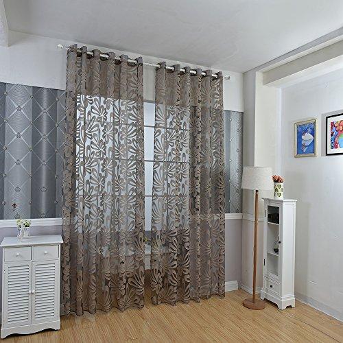 BEST OF BEST STORE 100 x 250 cm Fleur Imprimé Tulle Vitrage Home Decor Rideau Occultant Mode Mix Chambre à Coucher Window Drapes