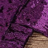 Tela de terciopelo terciopelo por metros color morado oscuro ancho 160 cm para fondo de boda, tela de costura, disfraces, tapicería, manualidades (tamaño: 1000 cm)