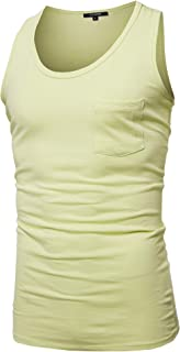 Youstar Men's Basic Solid Sleeveless Round Neck Tank Top Various Colors