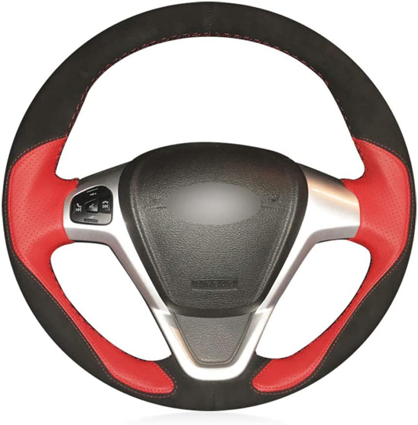 OPIUYS Car Steering Wheel Ranking TOP8 Hand-stitchedRed Leather Cover Nashville-Davidson Mall Steerin