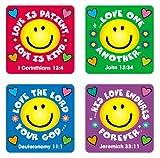 Carson Dellosa   Love Verses Christian Stickers   .8-inch x .8-inch, 120ct