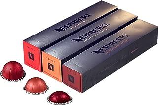[European Version] Nespresso VertuoLine Decaffeinated Assortment: Espresso Intenso (1.35 ounce), Gran Lungo Ontuoso (5 ounce), Decaffeinato Coffee (7.77 ounce), 30 Capsules