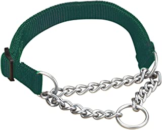 "Hamilton Adjustable Combo Choke Dog Collar, Dark Green, Small, 5/8"" x 12-18"""