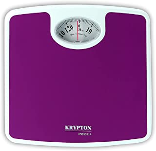 Krypton KNBS5114 Mechanical Personal Body Weight Scale, purple