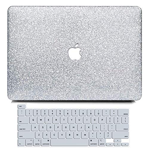BELKA MacBook Pro 13 Inch Case 2020 Release A2251 A2289, Glitter Sparkly Smooth Ultra-Slim PC Hard Case with Keyboard Cover for Newest MacBook Pro 13 with Touch Bar, Touch ID & Retina Display