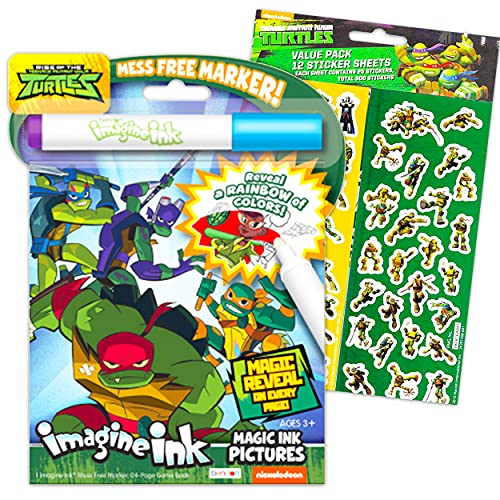 Teenage Mutant Ninja Turtles Ink Bundl. Activity and coloring book for kids with 300 stickers