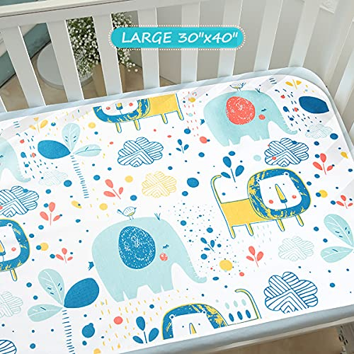 Baby Waterproof Bed Pad Bed Wetting Pads Washable for Kids Toddler Potty Training Pads Baby Wateproof Pad Mat for Pack n Play/Crib/Mini Crib Reusable Incontinence Underpads for Kids/Adult/Pets