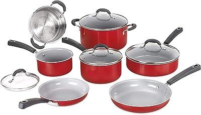 Amazon Com Bialetti Aeternum Red 7252 8 Piece Cookware