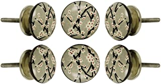 TRINCA-FERRO Ensemble de 6 armoire Boutons aminés armoire de cuisine Dresser armoire train doorknob