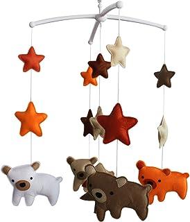 Décoration mobile musicale de lit de bébé de crèche de cadeau de Noël pour des filles et des garçons N