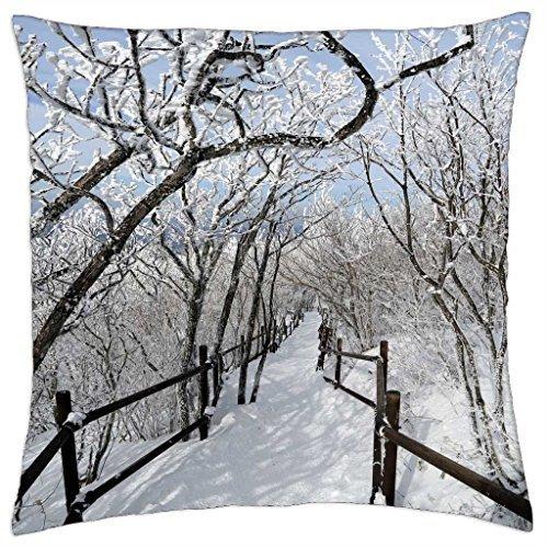Funda de almohada para cubrir el camino de invierno maravilloso (16 unidades)