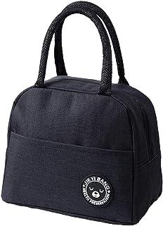 ZoneYan Lunch tas geïsoleerde tas, kleine opvouwbare koeltas voor werk school, picknick handtas voor vrouwen, volwassenen,...