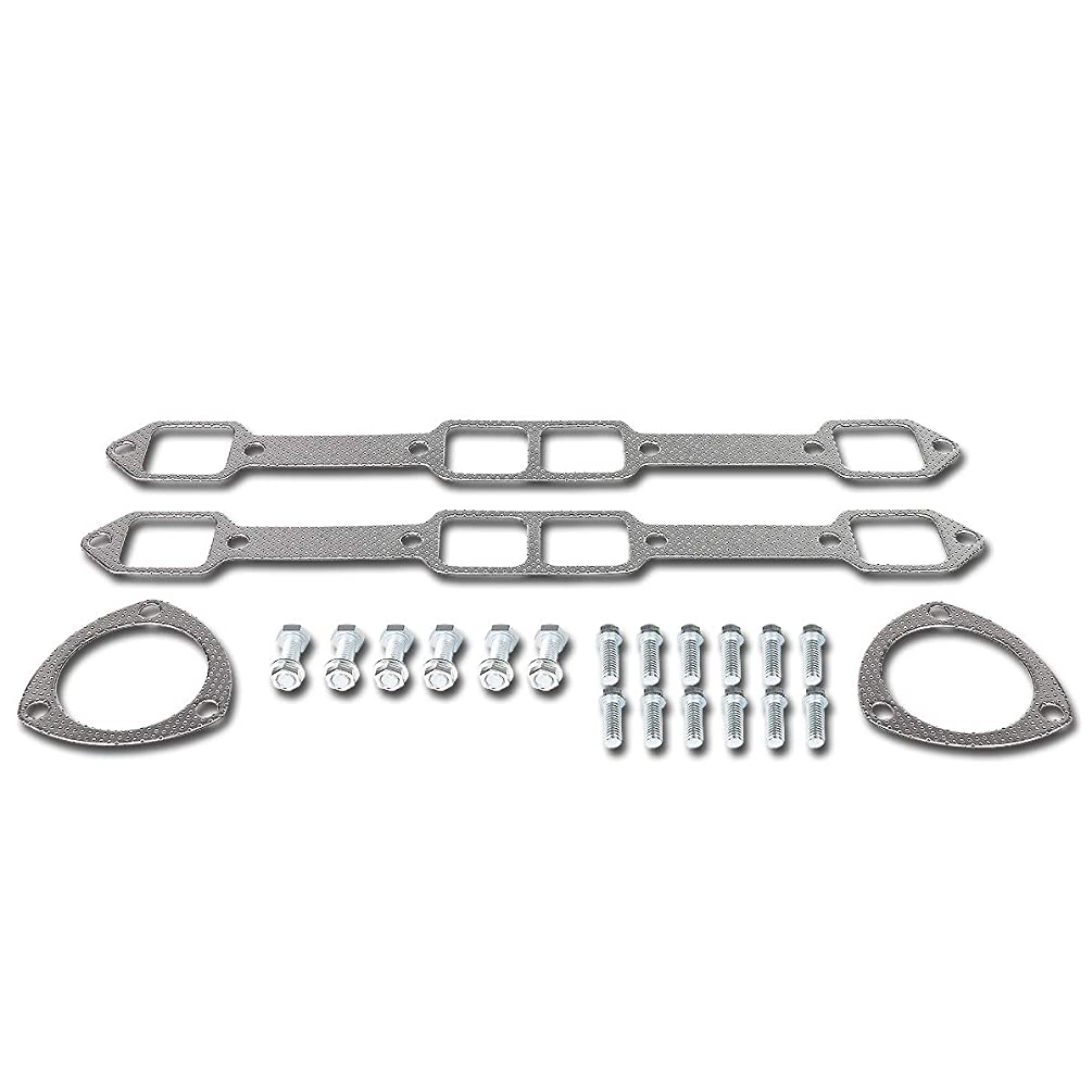DNA MOTORING GKTSET-MOPARBB-V8 Aluminum Exhaust Manifold Header Gasket Set Replacement