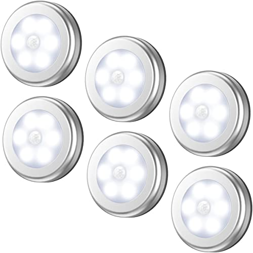 AMIR Motion Sensor Light, Cordless Battery-Powered LED Night Light, Stick-anywhere Closet Lights Stair Lights, Puck L...