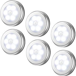 AMIR Motion Sensor Light, Cordless Battery-Powered LED Night Light, Stick-anywhere Closet Lights Stair Lights, Puck Lights...
