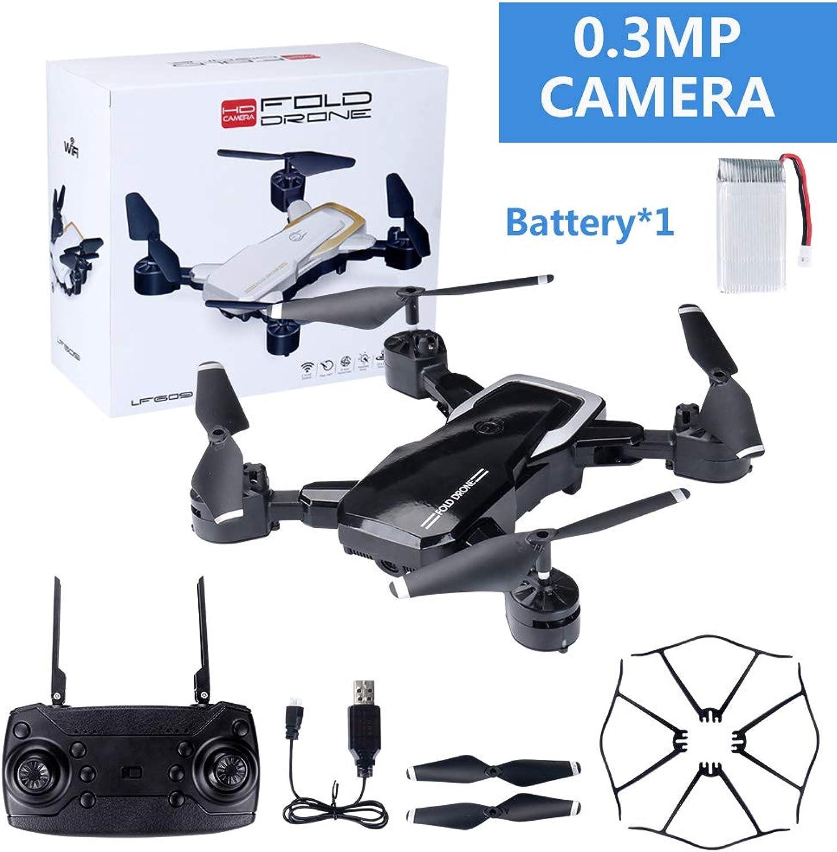 XuBa LF609 WiFi FPV RC Drone Quadcopter with 0.3MP 2.0MP Camera Black 30W