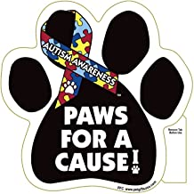 Show Your Support of Autisim Awareness - Paws For A Cause - AUTISM AWARENESS- Car Truck & Mailbox Magnet