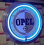 Neon Orologio di neon Clock Old OPEL Sign # 1Wall Clock Blue Neon Blu Anche Con Altri Neon Colori disponibili-Vedi confronto di immagini.