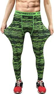 BaronHong Men's Active Yoga Leggings Athletic Dance Tights Gym Training Running Workout Pants