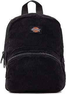 Corduroy Mini Backpack Black Solid