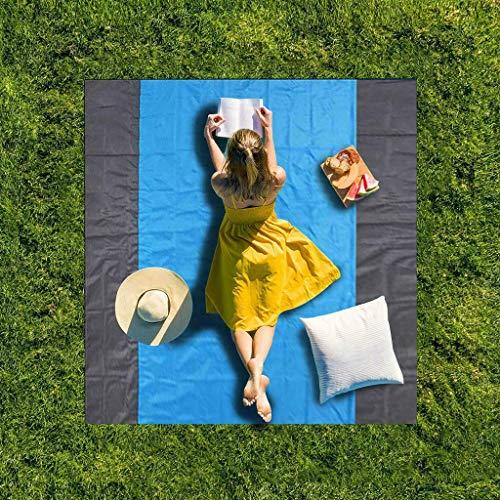Samoii Sand Free Beach Mat Outdoor Picnic Blanket Rug Sandless Mattress Pad Sand Proof Picnic Mat for Travel Camping Hiking