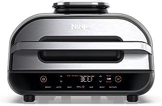 Ninja Grill & friteuse à air Foodi Max [AG551EU] avec sonde de Cuisson numérique Grill & Air Fryer, Non-Stick Ceramic Coat...