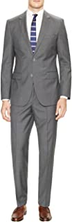 DTI GV Executive Men's Two Button Suit 2 Piece Modern Fit Jacket Flat Front Pant
