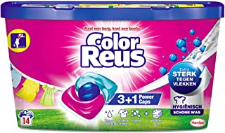 8x Witte Reus Power Caps Wasmiddelcapsules Color Reus 14 stuks