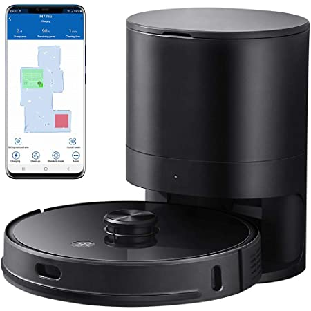 Proscenic M7 PRO WLAN Robot Vacuum Cleaner, with Laser Navigation, App and Alexa control, Strong Suction with Mop Function, Robotic Vacuum Cleaner for pet hair and carpets