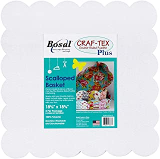 Bosal Craf-tex Plus Double-Sided Fusible Interfacing for Poorhouse Quilts, White Each