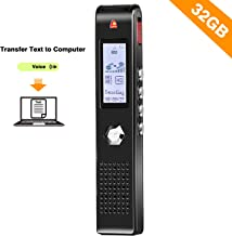 Seanme 2019 New Version Transcribe Voice Recorder, Digital Voice Sound Recorder, 32GB Large USB Voice Recorder, MP3 Player, Noise Reduction, Multi-connectors Dictaphone for Lectures, Meetings