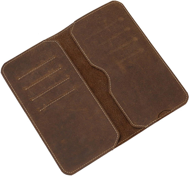 Damengeldbörse mit großer Kapazität mit mit mit Reißverschlusstasche und Kartenhalter Handytasche (Farbe   braun) B07FL7454T fe60e0