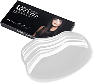 Faleto 50Pcs Disposable Face Hairspray Shield Hair Salon Barber Hair Cutting Eye Protector Cover Bang Trim Hair Cutting Tools
