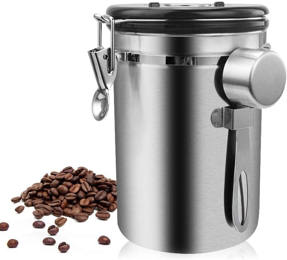 Airtight Jar Reservation Portable Round C Stainless Steel Outlet ☆ Free Shipping