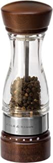 Cole & Mason Gourmet Precision Keswick Pepper Mill, Acrylic and Beech Wood, 18 cm