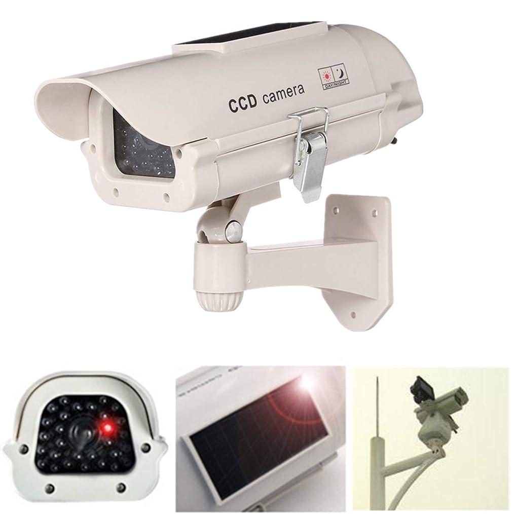 ガチョウメアリアンジョーンズジャンプする2300ソーラーパワーダミーデコイ偽セキュリティシミュレーションカメラ監視点滅LED