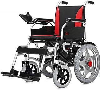 ZHANGYY Silla de Ruedas eléctrica, portátil Silla de Ruedas Ligera Transporte portátil Silla de Viaje Asistencia para discapacitados Coche Silla de Ruedas Duradera (batería de Litio 12AH)