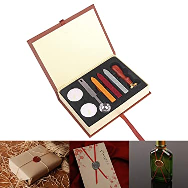ONEVER Retro Wax Seal Stamps Kit Harry Potter | Hogwarts Magic School Badge | Wax Stick Spoon | Colloction Gift Box Set