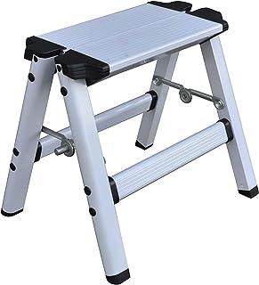 Elk & Bear Small Folding Step Stool for Adults or Kids Aluminum Ladder Great for Kitchen, Bathroom, RV, Closet, Garage, Ga...