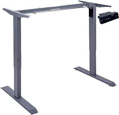 KQUEO Bureau Assis Debout-Table Reglable Hauteur 70-120 cm-K-Lift SBASE-Bureau Assis Debout électrique Mono-Moteur,Panneau Di