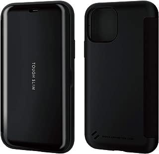 エレコム iPhone 11 Pro / Phone XS / iPhone X ケース 耐衝撃×薄軽 TOUGH SLIM [画面を守るシェルフラップタイプ] ブラック PM-A19BTSSBK