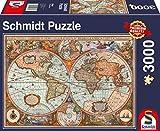 Schmidt Spiele- Antica Mappa del Mondo, Puzzle da 3000 Pezzi, Multicolore, 58328