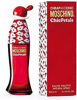 Moschino cheap and chic petals for women eau de toilette spray, 3.4 ounce
