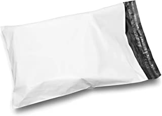 Shop4Mailers 12 x 15.5 Glossy White Poly Bag Mailer Envelopes 2.5 Mil (100 Pack)