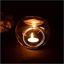 Candlestick Tealight Candle Holders Oil Candlestick Transparent Crystal Handmade Glass Candlestick Centerpieces Wedding Ho...