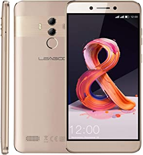 Mobile phone T8S, 4GB+32GB, Dual Back Cameras, Face ID & Fingerprint Identification, 5.5 inch Android 8.1 MTK6750T Octa Core up to 1.5GHz, Network: 4G, Dual SIM(Gold) taizhan (Color : Gold)