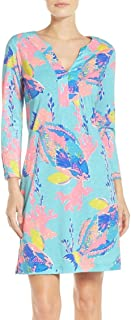 Lilly Pulitzer Women's Shorely Blue Sandstorm Reduced Riva Dress, Size XS